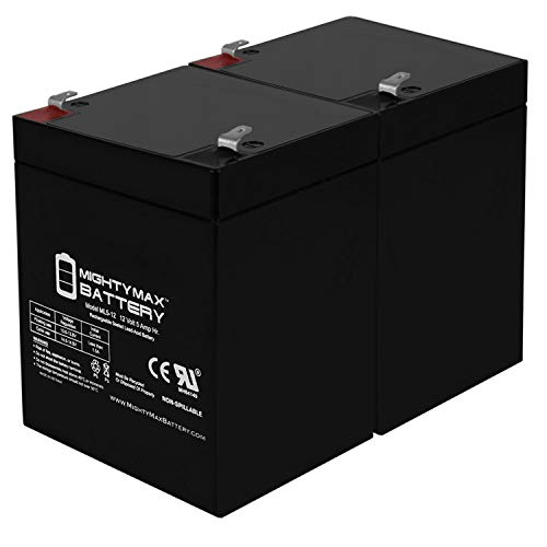 Mighty Max Battery ML5-12 - 12V 5AH Chamberlain 41A6357-1 Garage Door Opener Battery - 2 Pack Brand Product