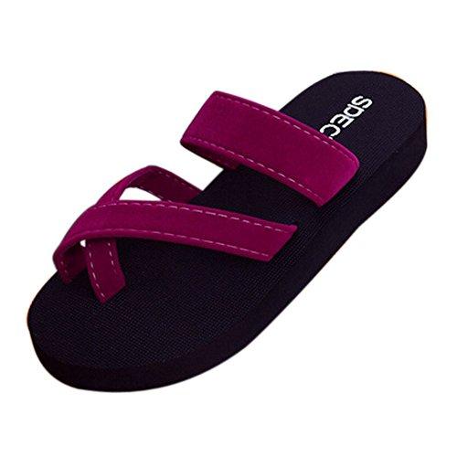 Tongs d'été Femme,Pantoufles de Plage Sandales Plates Chaussures à Bout Ouvert Bringbring