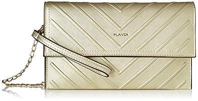 Flavia Women's Clutch (Gold)
