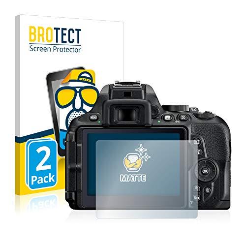 BROTECT Protector Pantalla Anti-Reflejos Compatible con Nikon D5600 (2 Unidades) Pelicula Mate Anti-Huellas