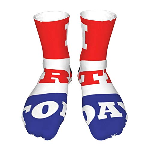 antcreptson Voting Stickers - I Farted Today Unisex Thick Boat Socks, Breathable Heavy Padded Cotton Socks with Thick Black Heel.