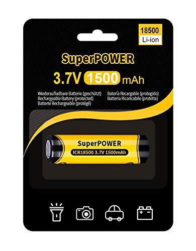 Superpower Pila Lithium-Ion 18500 1500 mAh -3,7 V (Protegido)