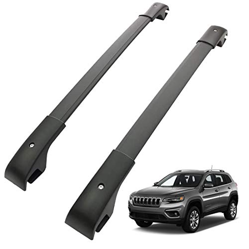 Tata.Meila Roof Rack Cross Bars for Jeep Cherokee 2014 2015 2016 2017 2018 2019 2020 2021 Roof Rails Crossbars Luggage Carrier Black Aluminum(Don't fit for Jeep Grand Cherokee) -  TAMA0000118