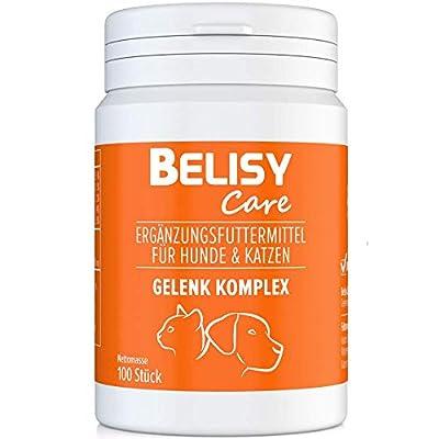 BELISY > Gelenk Komplex < Gelenktabletten für Hunde & Katzen - 100 Tabletten mit Teufelskralle, Grünlippmuschel, MSM & Glucosamin - Hergestellt & Laborgeprüft in Deutschland