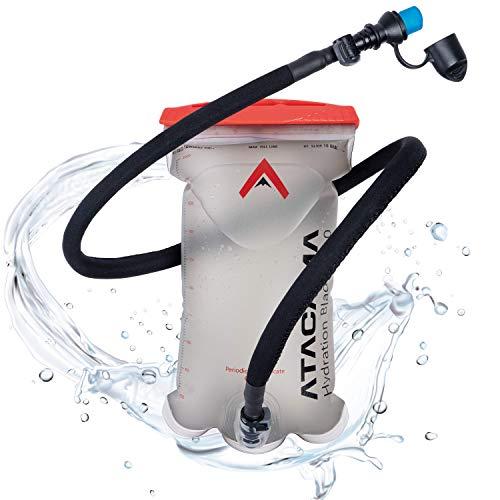 Atacama Trinkblase 2L BPA frei - 2 Liter Rucksack Wasserbeutel mit insuliertem Trinkschlauch für jeden Fahrradrucksack und Trinkrucksack mit Trinkblase Camelbag Hydration Backpack