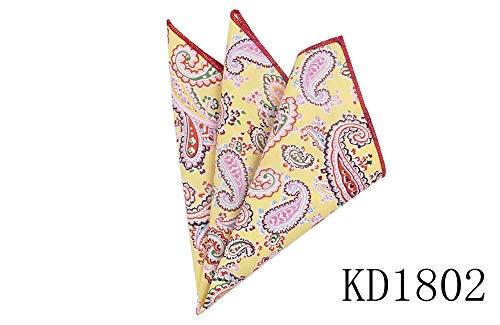 Preisvergleich Produktbild JFCUICAN Baumwoll-Taschentücher für Herren,  Cashew,  Blumenmuster,  quadratisch,  für Hochzeit,  Party,  Hochzeit,  Party Kd1802