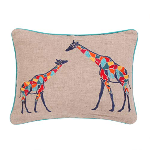 Burlap Giraffe Pillow