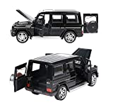 Diecast Pull Back Cars, 6.1' Alloy Toddler Cars , Toy Car Model 1:32 with Sound and Light for G65 SUV AMG for Kids Gift(Black)
