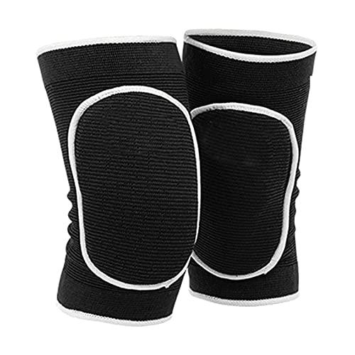 Perfeclan Unisex Schutz Knie-Pads, dicken Schwamm Kollision Vermeidung Knie Ärmeln Atmungsaktiv Knie Guards für Volleyball Fußball Yoga Dance Rollschuh - Schwarz