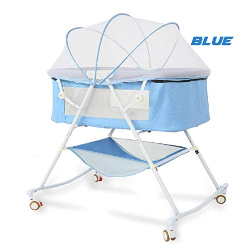 Learn More About Rocking Chair Cradle Bed Baby Bassinet Portable Includes Gentle Rocking Feature Gre...