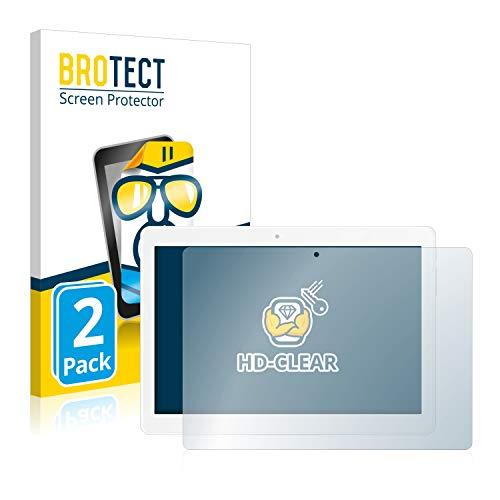 BROTECT Schutzfolie kompatibel mit TrekStor SurfTab Breeze 10.1 Quad 3G (2 Stück) klare Bildschirmschutz-Folie