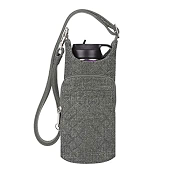Travelon  Boho Water Bottle Tote Pouch - Gray Heather