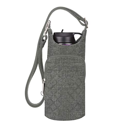 Travelon: Boho Water Bottle Tote Pouch - Gray Heather