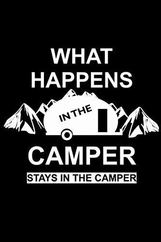Diario de viaje en caravana: Tu libro personal de recorridos para viajes en caravana y camping  formato 6x9  motivo: what happens in the camper mountain