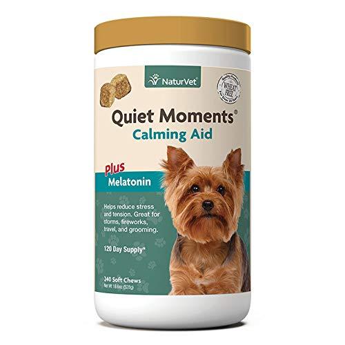NaturVet, Quiet Moments, Calming Aid Plus Melatonin, 240 Soft Chews