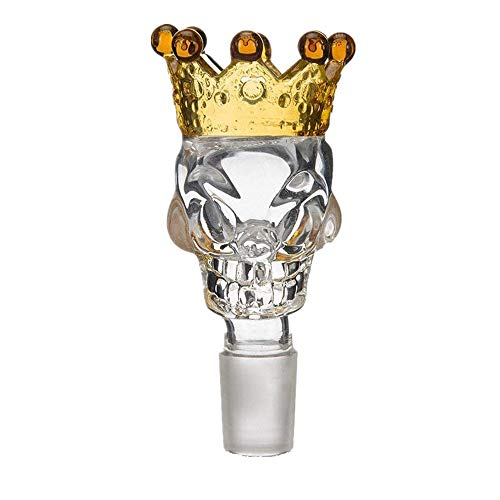 QingHong Delicate and Transparent Crown Glass Taro, 14mm Male Connector, Made of Yellow Glass Crown Colored Glass