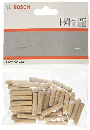 Bosch Professional geriffelte Holzdübel (50 Stück, Ø 6 mm)