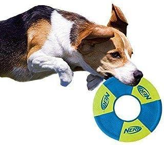 NERF DOG TOSS & TUG RING DOG TOY GREEN - MEDIUM (9 INCH)