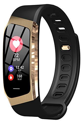 Fitness Uhr Damen Pulsuhr Sport Blutdruckmessung Smartwatch IOS Android Wasserdicht Schlaf Tracker Blutdruck Schritt Kalorien Herren Armband