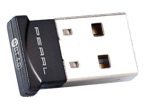 PEARL Stick, Bluetooth: Ultrakompakter USB-Adapter, Bluetooth 4.0, Klasse 1, EDR+CSR, 100 m (Dongle, Bluetooth)