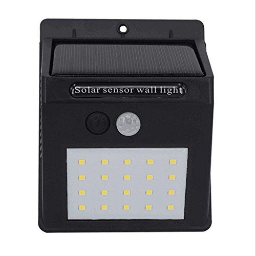 Taux de feuillets 20 LED lumineuse solaire détecteur de mouvement Lampe à économie d'énergie Appliques murales de sécurité pour jardin terrasse Deck Yard