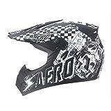 FFKL Juego Casco Motococlés Motocicletas Niños con Motocicletas, con Guantes Máscara Gafas,Casco Cara Completa Al Aire Libre para Un Regalo Niña De Niño,A-L
