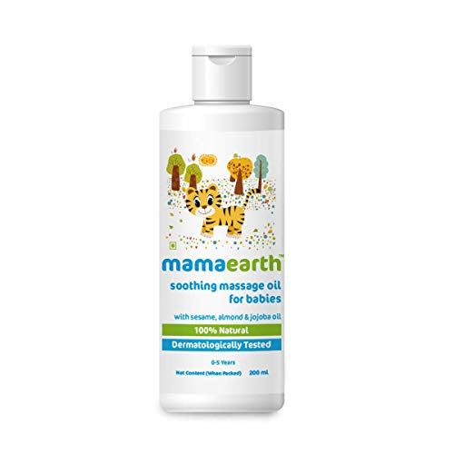 Mamaearth Soothing Baby Massage Oil, with Sesame, Almond & Jojoba Oil – 200ml