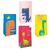 Mizijia, Bolsas de papel, bolsas de papel para dulces 24 piezas Bolsas de regalo coloridas con 60 pegatinas Bolsas de dulces para envolver regalos, fiestas de cumpleaños para niños, obsequios