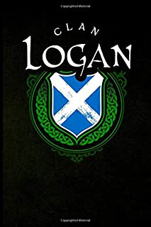 Clan Logan: Scottish Clan St. Andrew's Cross Shield - Blank Lined Journal with Soft Matte Cover