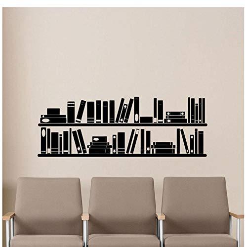 XXSCZ Boeken Boekenplank Muur Vinyl Decal Lezen Kamer Bibliotheek School Klas Sticker Kantoor Thuis Kinderkamer Kwekerij Mural Poster 118x42cm