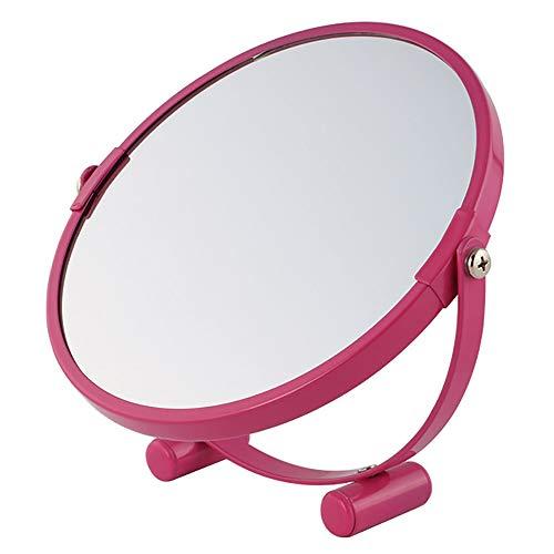 Miroir De Maquillage Grossissant,Miroir Maquillage Lumineux Rond,Miroir De Maquillage Haute Transmittance Squelette en Métal Luminosité Uniforme Rotation 360 ° Robuste Et Durable