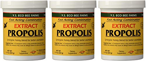 YS Eco Bee Farms Propolis Extract in Honey 11.4 oz jar (Pack of 3) -  B01IQOHUO0