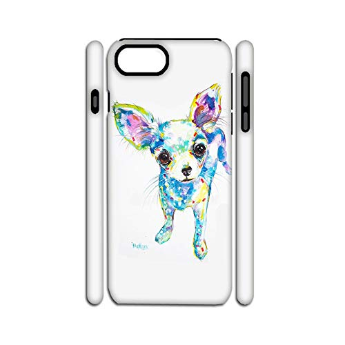 Phone Cases Hard Plastic Girls Print with Chihuahua 6 Compatible with Apple iPhone 6 6S Lovely Choose Design 127-2