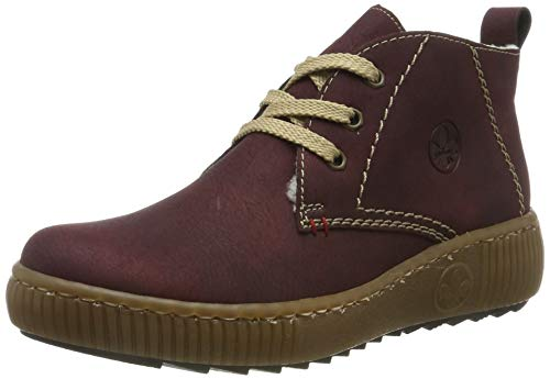 Rieker Damen L6640 Desert Boots, Rot (Bordeaux 35), 40 EU