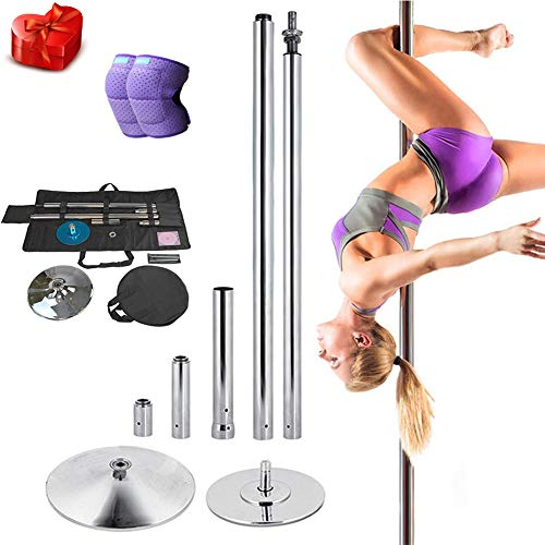 Professionelles Dancing Pole Kit, Spinning & Static Stripper Pole, Abnehmbarer Dance Sport Exercise Club Fitness,M
