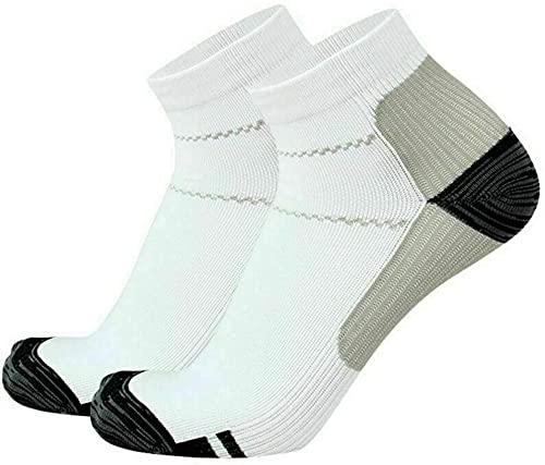 Calcetines de compresión para hombre para correr, fascitis plantar, soporte para arco y corte bajo para zapatillas, correr, fitness, ciclismo