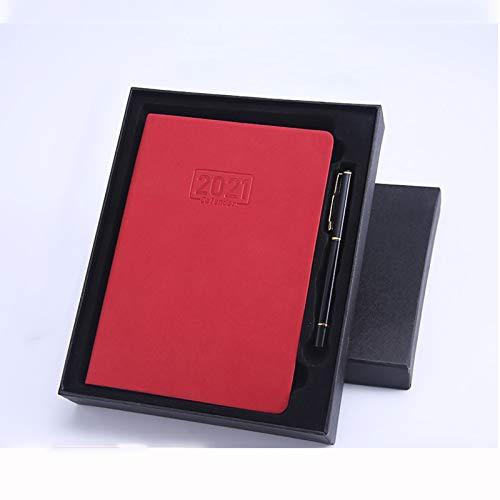 A5 Libreta Bonitas Cuaderno De Cuero Vintage Diario De Viaje Recargable Bloc De Notas Journal Con Página En Blanco Regalo Original San Valentín Navidad Cumpleaños Aniversario Boda, Pluma,Rojo