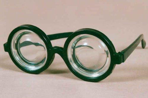 Doofibrille Brille zum Clown oder Nerd Kostüm an Karneval Fasching