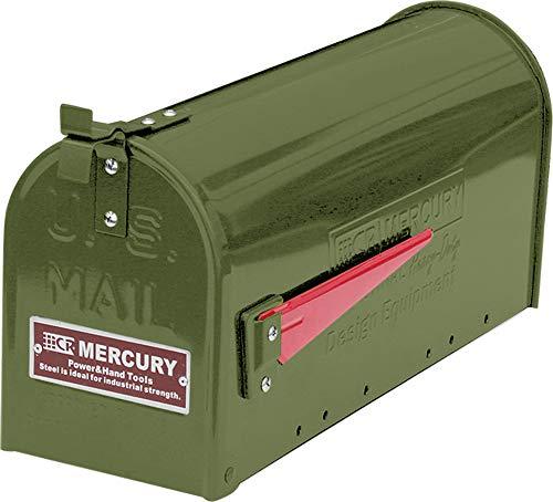 マーキュリー ポスト US EMBOSSED メールボックス 16.7×52.1×24.5cm マットオリーブ