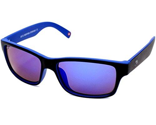 MONTANA MS27 Gafas, Multicolor (Negro/Azul/Revo Azul), Talla única Unisex Adulto