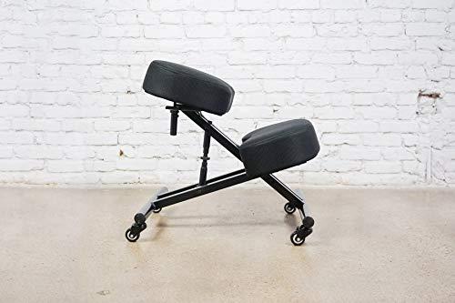 Sleekform Alpharetta Adjustable Kneeling Chair   Ergonomic Posture Correcting Knee Stool for Bad Back Support, Neck Pain Relief, Computer Desk   Orthopedic Comfortable Durable Mesh Cushions …