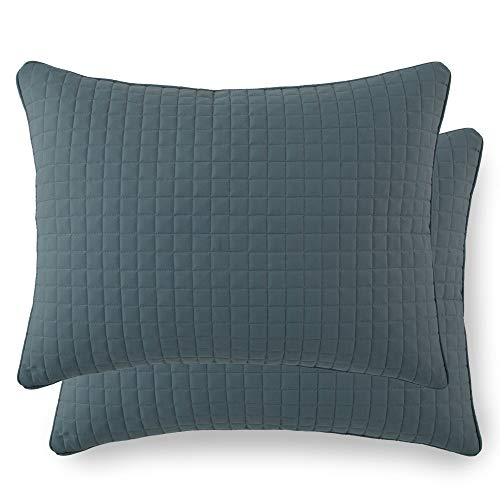 Southshore Fine Linens - VILANO Springs - Pair of Quilted Pillow Sham Covers (No Inserts), 20' x 26', Teal