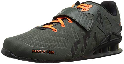 Inov-8 Men's Fastlift 335 Weight-Lifting Shoe, Thyme/Black/Orange, 9 M US