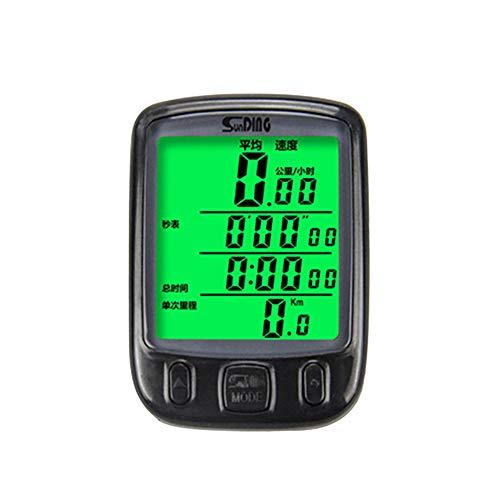 muskmelon Cuentakilómetros Bicicleta Impermeable Multifunción Cuentakilómetros Bicicleta Inhalambrico para Ciclismo con Retroiluminación...
