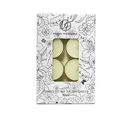Native Fragrance Shangri La Inspired Tea Light Candle 8 Pack, Handmade Soy Wax Tea Light Candles