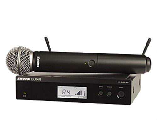 Shure BLX24R/SM58 podiummicrofoon, draadloos, zwart – microfoon (podium/directe microfoon, draadloos, 662-686 MHz, accu/batterij, AA, alkaline)