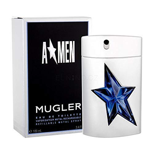 100% Authentic MUGLER A MEN Metal EDT 100ml Made in France + 2 Niche perfume samples free