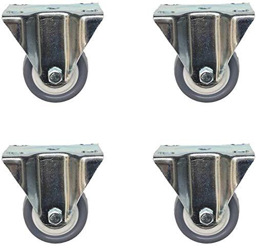 Ruedas De Repuesto Giratorias De Goma Anti Rayadur Muebles Caster Ruedas de 50 mm Rueda giratoria de ruedas antideslizantes for zapatos cajas de flores Soportes trabajo con Bancos de frenos Juego de 4