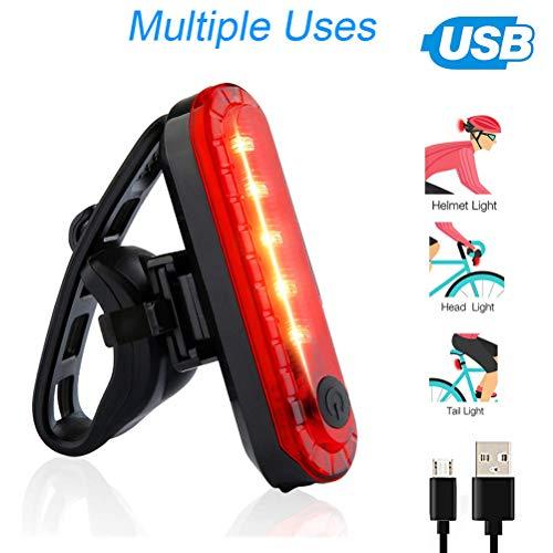 2 Fahrradrücklichter, superhelle, wiederaufladbare USB-Fahrradrücklichter, rote, hochintensive LED-Zubehörteile können an jedem Fahrrad oder Helm montiert werden