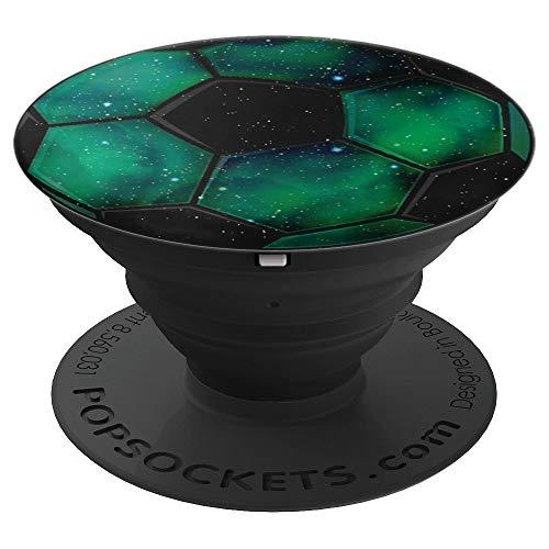 Grüner Galaxie-Weltraum Fußball für Jungs - PopSockets Ausziehbarer Sockel und Griff für Smartphones und Tablets
